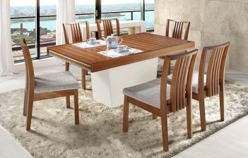 Cadeiras estofadas, sala de jantar e poltronas